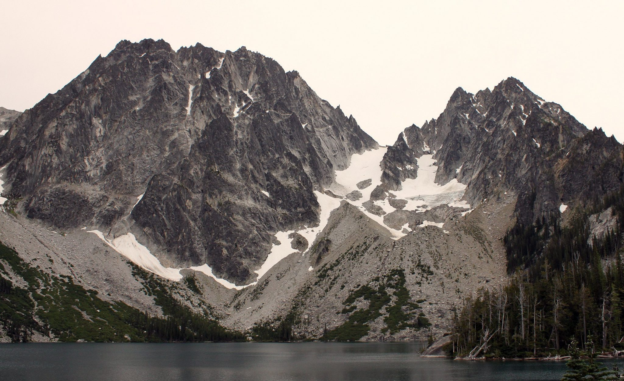Dragontail Peak (left) and Colchuck Peak