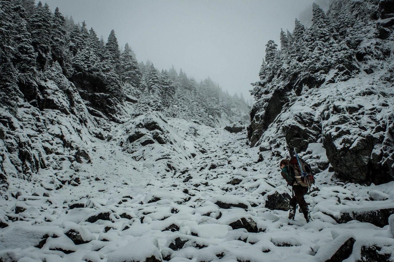 Snowy gully