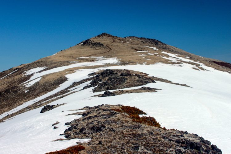 The final stretch on Mount Townsend
