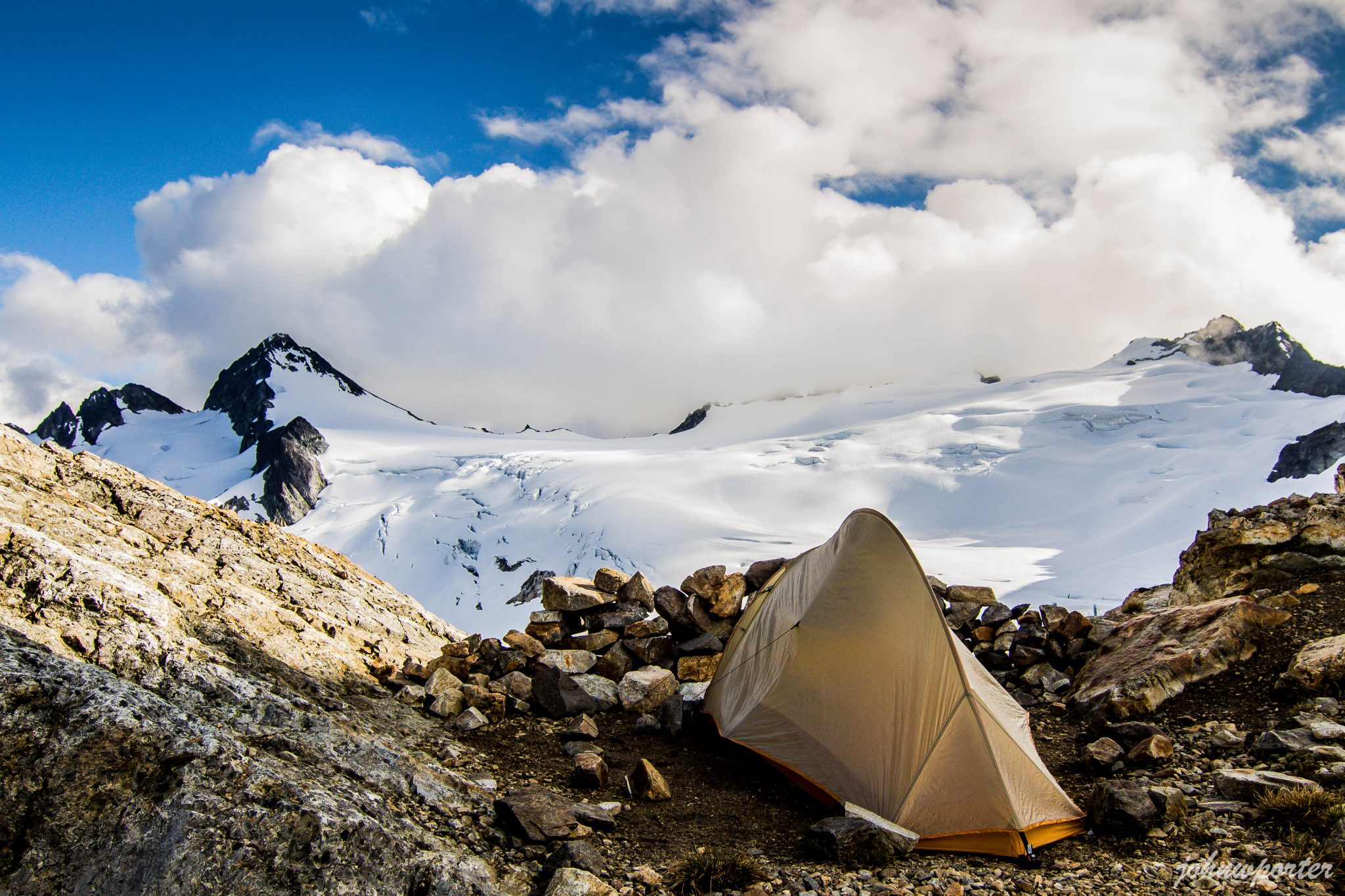 Snowfield Peak from Neve Col camp