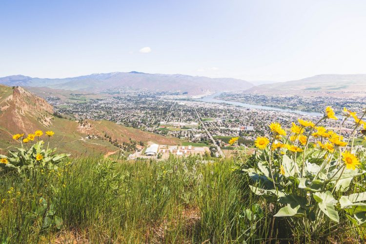 City of Wenatchee from below Rooster Comb
